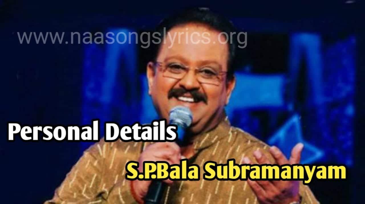 S.P.Bala Subrmanyam